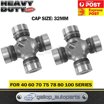 2 x Universal Joint Set Toyota Landcruiser 40 60 70 75 78 80 100 Series F&R 32MM
