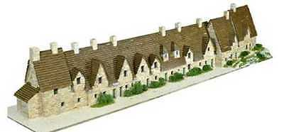 Aedes 1601 Bibury arlington row scala H0 (1:87) Kit in mattoncini terracotta