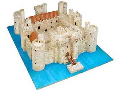 Aedes 1014 Castello di Bodiam  scala 1:180 Kit in mattoncini terracotta