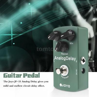 Joyo JF-33 Analog Delay Electric Guitar Effect Pedal True Bypass Green X1I5