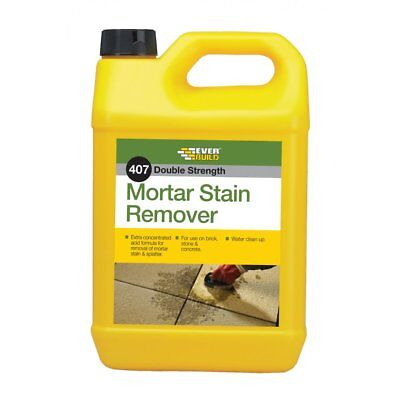 Everbuild 407 Mortar Stain Remover Cleaner 5 L Ltr Fast Acting