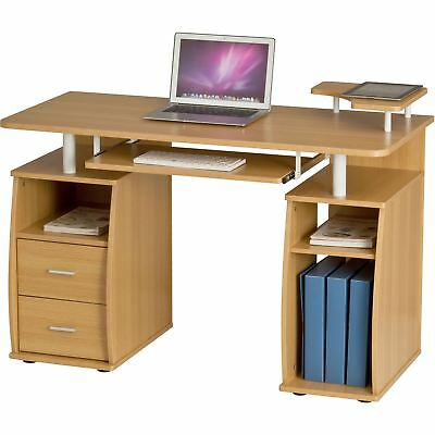 Computer Desk with Shelves Cupboard & Drawers Home Office - Piranha Tetra PC 5o