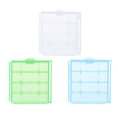 1/10pcs Clear Hard Plastic Case Holder Storage Box for AA AAA Battery