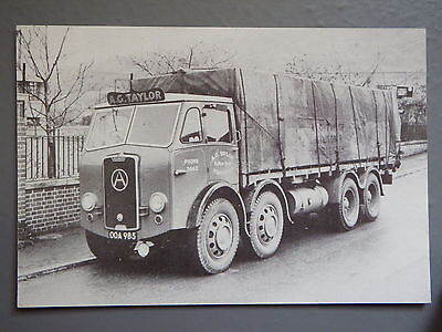 R&L Postcard: Motor Cards Modern Repro, Atkinson Lorry, Worcester AG Taylor