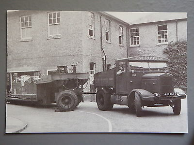 R&L Postcard: Motor Cards Modern Repro, Scammell Prime Mover Lorry, E W Rudd