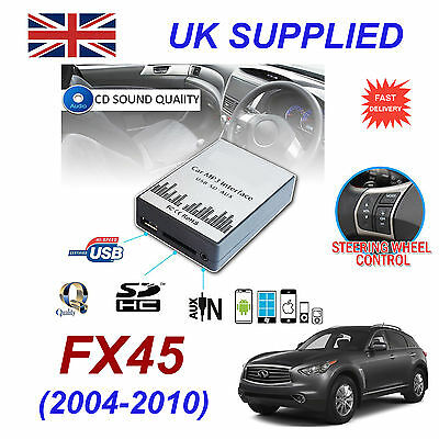 For Infiniti FX45 MP3 SD USB CD AUX Input Audio Adapter CD Changer Module