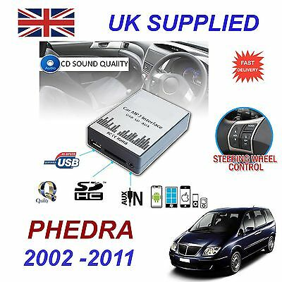 Lancia PHEDRA MP3 SD USB CD AUX Input Audio Adapter Digital CD Changer Module