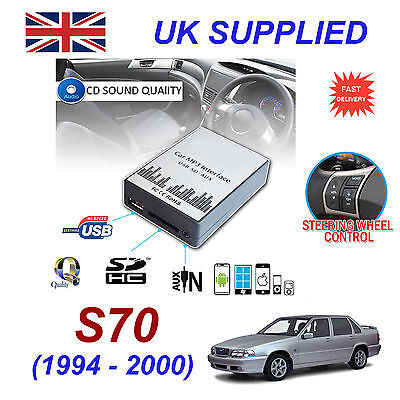 For VOLVO S70 94-00 MP3 SD USB CD AUX Input Audio Digital CD Changer Module