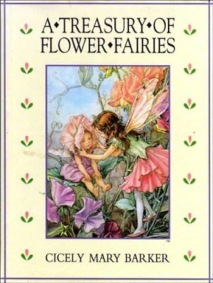 A Treasury of Flower Fairies, Barker, Cicely Mary Hardback Book The Cheap Fast
