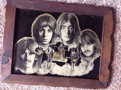 The Beatles Gold Glitter Picture Wood Frame