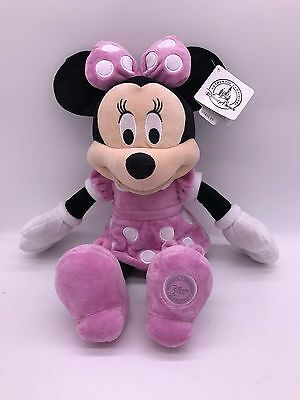 """Disney Minnie Mouse Pink Plush Toy 19"""" Authentic Disney Soft Doll"""