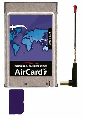 Sierra Wireless AirCard 750 GPRS & GSM Mobiles Internet PCMCIA Card incl Antenne