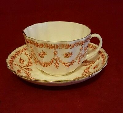 Vintage Doulton Burslem Saucer and Royal Daulton Cup  Red Swags