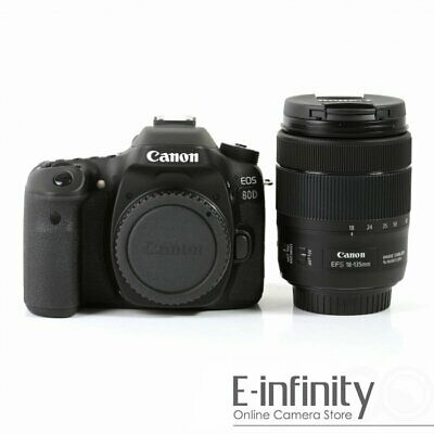 NEW Canon EOS 80D Digital SLR Camera + 18-135mm f/3.5-5.6 IS USM Lens