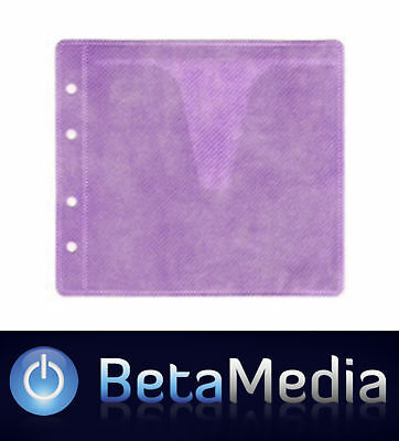 1000 x Purple CD / DVD Double Sided Plastic Sleeves - Holds 2000 discs