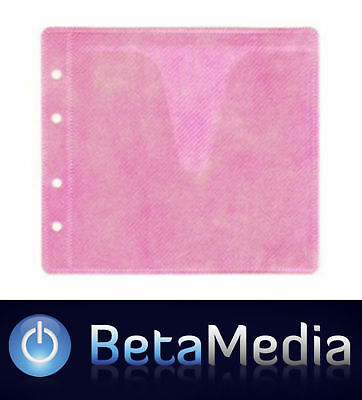 1500 x Pink CD / DVD Double Sided Plastic Sleeves - Holds 3000 discs