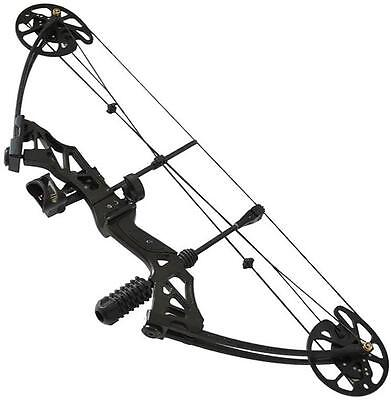 Archery Hunting Compound Bow Black 35-70# Right Hand With Fiberglass Bow Limbs