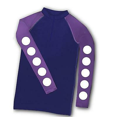Carrots XC Theme Horse Riding Top Purple Spots Childs