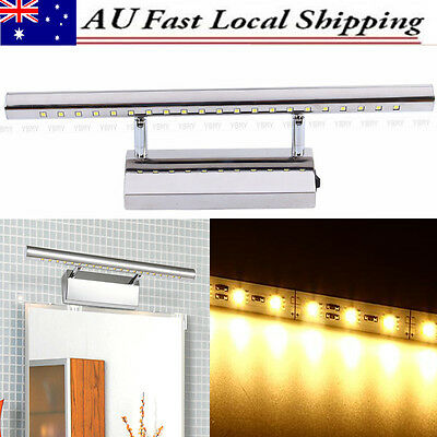 Hot Waterproof LED Make-up Wall Mirror Light Lamp Front Bathroom Home Stainless