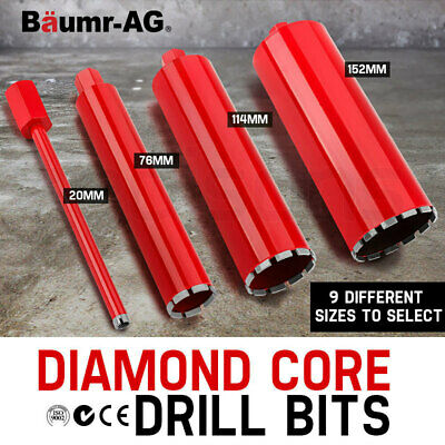 NEW Baumr-AG Diamond Core Drill Bit Concrete - 20,53,63,76,89,102,114,127,152mm
