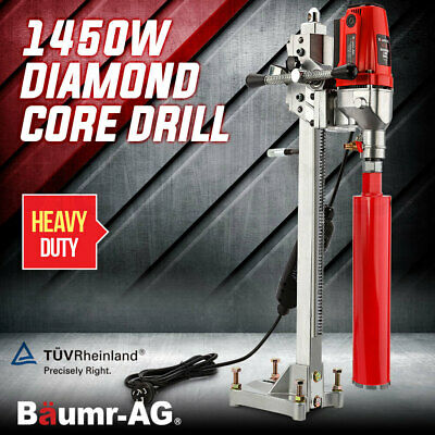 New Baumr-AG Diamond Concrete Core Drill Machine Vertical Stand Press Drilling
