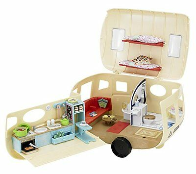 Sylvanian Families The Caravan Caravan With Full Of Fun. Included Are Over 35 N