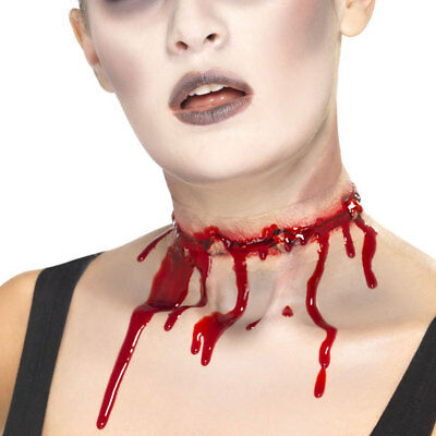 Halloween Zombie Wound Barbed Wire Bloody Scar for Zombie Fancy Dress Costume