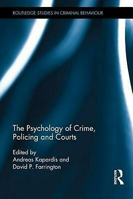 The Psychology of Crime, Policing and Courts (English) Hardcover Book Free Shipp