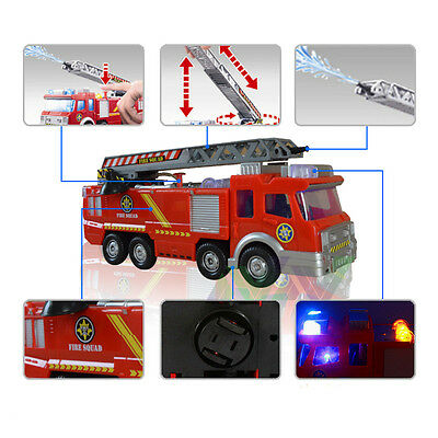 Electric Emergency Vehicle Fire Fighting Truck Toy for Kids with Light & Alarm