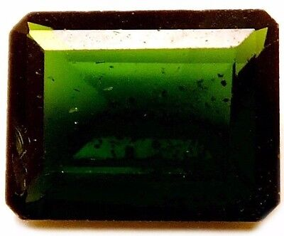 NATURAL TOP GRADE GREEN CHROME DIOPSIDE GEMSTONE (9.1 x 7.1 mm) EMERALD-CUT