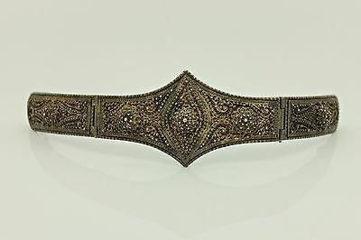 Antique Original Silver Filigree Ottoman Tugra Deorated Amazing  Belt Buckle
