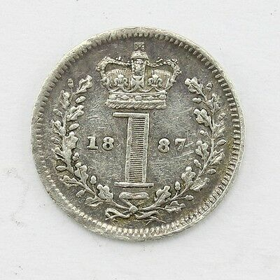 1887 Queen Victoria Maundy 1d Twopence Lot C1