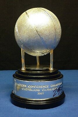 LeBron James Autographed Replica Eastern Conference Champs Trophy Cavaliers JSA