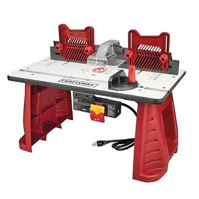 Router Table Craftsman Woodworking Cutting Portable Bench Garage Precision Tool