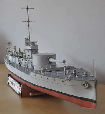 3D DIY Paper Model Kit 1/100 Scale British Royal Navy HMS M15 M15-class monitor