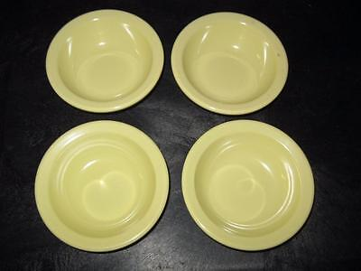 "LOT 4 AUTHENTIC TEXAS WARE MELAMINE 4.5"" BOWLS Yellow #110 Free Ship"
