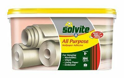 Solvite Ready To Roll - Papel para pared multipropósito (5 rollos, NUEVO