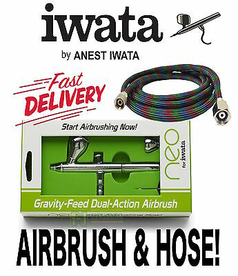 Neo For Iwata Cn 0 35Mm Dual And Hose Action Gravity Feed Airbrush Art Spray