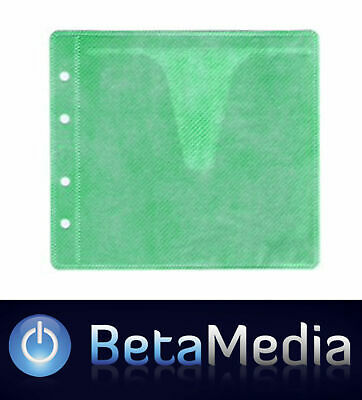 1000 x Green CD / DVD Double Sided Plastic Sleeves - Holds 2000 discs