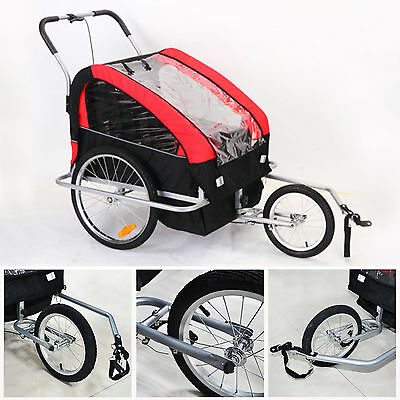 Buggy Bike Trailer / Stroller / Pram - Seats 2 Children 2016 model