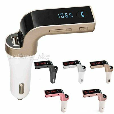 G7 Car AUX Bluetooth FM Transmitter Handsfree Kit with Mic USB Charger For Phone