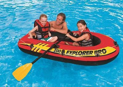 Intex Explorer Boat Set Inflatable Floor Pump Paddles Included Two Person Boat