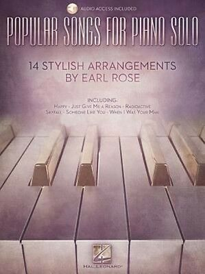 Popular Songs for Piano Solo 14 Stylish Arrangements by Earl Rose by Paperback B