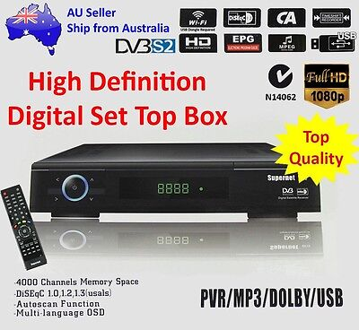 SUPERNET 880 Full HD Satellite Receiver WIFI/PVR/USB/EPG/DVB-S2/MPEG-4