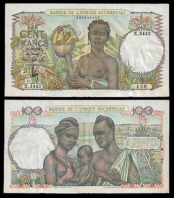 French West Africa 100 Francs 16.4.1948 P 40 VF-XF