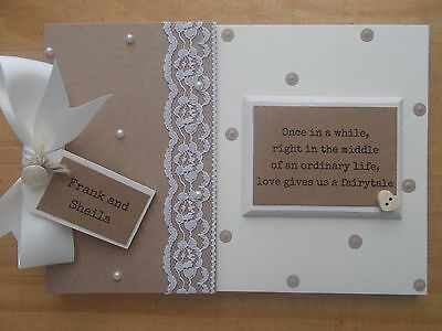 Personalised Engagement Scrapbook Photo Album Memory Book QUICK POSTAGE