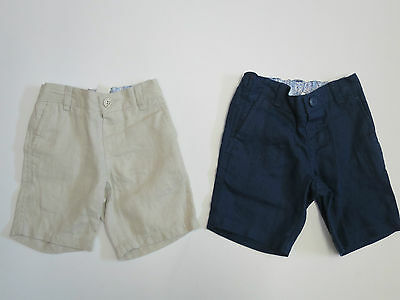Boys shorts linen  MONSOON  baby 3 6 9 12 18 24 months 7 8 9 10 years  RRP £20 +