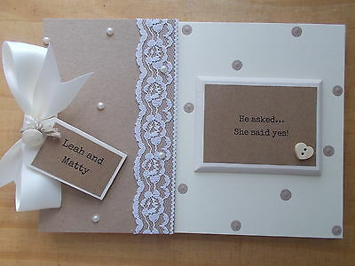 Personalised Engagement Gift Photo Album Scrapbook Memory Book QUICK POSTAGE
