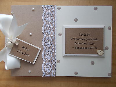 Personalised Pregnancy Journal Scrapbook Gift Memory Book QUICK POSTAGE