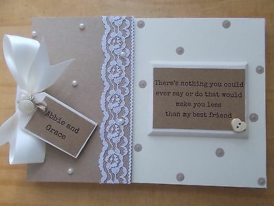 Personalised Best Friends Vintage Style Scrapbook Memory Book Gift QUICK POSTAGE